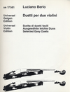 Carl Fischer Berio, L.:  Selected Easy Duets (2 violins)