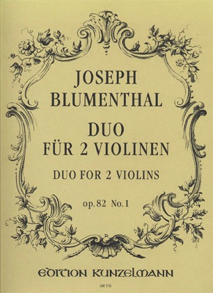 Edition Kunzelmann Blumenthal, J.: Duo for 2 Violins, Op.82 No.1 (two violins)