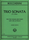 International Music Company Boccherini, L. (Moffat): Trio Sonata in C minor (two violins, and piano, with cello ad libitum)