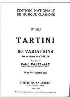 HAL LEONARD Tartini, Giuseppe: 50 Variations for Cello Solo