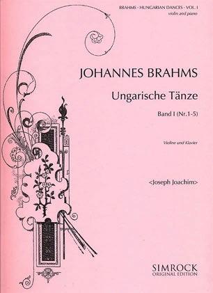 HAL LEONARD Brahms, Johannes (Joachim): Hungarian Dances Vol.1 #1-5 (violin & piano)
