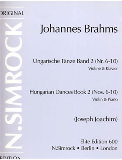 HAL LEONARD Brahms, Johannes (Joachim): Hungarian Dances Vol.2 #6-10 (violin & piano)