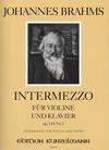 Brahms, Johannes: Intermezzo Op.118 #2 (violin & piano)
