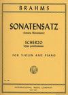 International Music Company Brahms, J.: Sonatensatz (violin & piano)