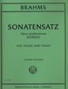 International Music Company Brahms (Rosand): Sonatensatz - Scherzo (violin & piano)