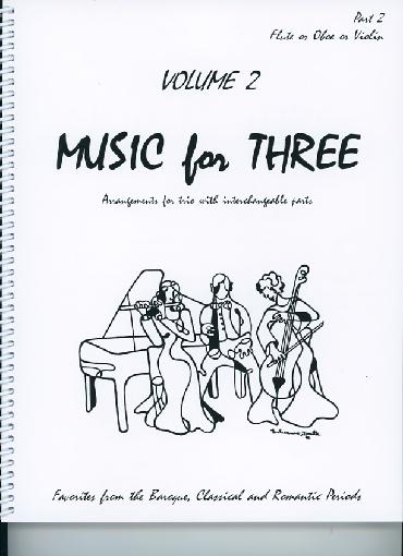 Last Resort Music Publishing Kelley, Daniel: Music for Three Vol.2, Favorites from the Baroque, Classical & Romantic Periods (violin 2)