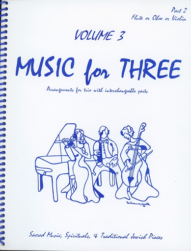Last Resort Music Publishing Kelley, Daniel: Music for Three Vol.3 Sacred Music, Spirituals & Traditional Jewish Pieces (violin 2)