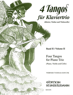 C.F. Peters Thomas-Mifune, Werner: 4 Tangos for Piano Trio Vol.2