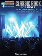 HAL LEONARD Classic Rock for Viola-10 Monumental Hits (audo access to playalong track included)