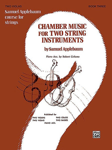 Alfred Music Applebaum, S.: Chamber Music for Two String Instruments V.3 (2 violas)