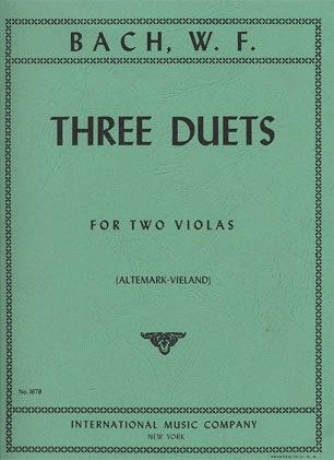 International Music Company Bach, Wilhelm Friedemann: Three Duets (2 violas)  IMC