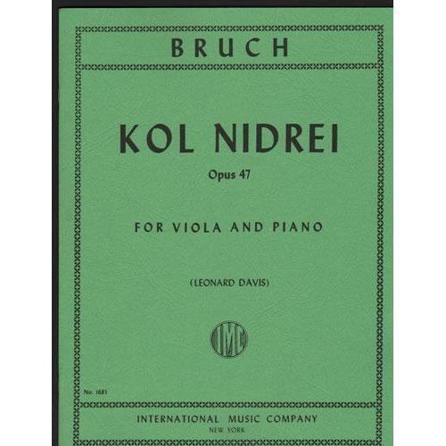 International Music Company Bruch, Max: Kol Nidrei (viola & piano)