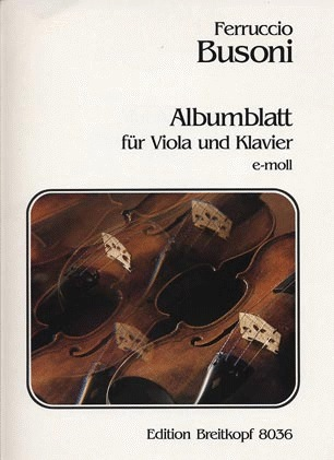 Busoni, Ferruccio: Albumblatt (viola & piano)