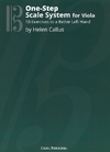 Carl Fischer Callus, Helen: One-Step Scale System for Viola, 10 Exercises to a Better Left Hand (viola)
