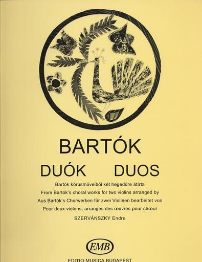 HAL LEONARD Bartok, B. (Szervanszky): Duos from Bartok's Choral Works (two violins)
