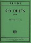 International Music Company Bruni: 6 Duets, Op.6 (two violins)