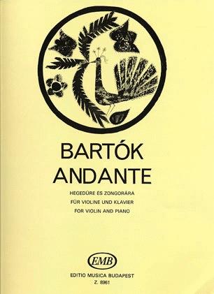 HAL LEONARD Bartok (Somfai): Andante (violin & piano)