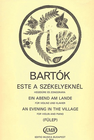 HAL LEONARD Bartok, B. (Fulep): An Evening in the Village (violin & piano)