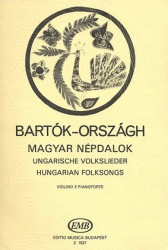 HAL LEONARD Bartok, Bela: Hungarian Folksongs (Violin & Piano)
