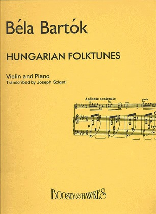 HAL LEONARD Bartok, B. (Szigeti): Hungarian FolkTunes (Violin and Piano)