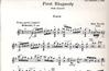 HAL LEONARD Bartok, B.: Rhapsody No.1 (Violin & Piano)