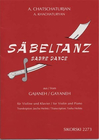 HAL LEONARD Khachaturyan, Aram (Heifetz): Sabre/Saber Dance (violin & piano)