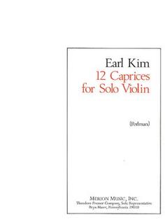 Carl Fischer Kim, Earl: 12 Caprices for Solo Violin