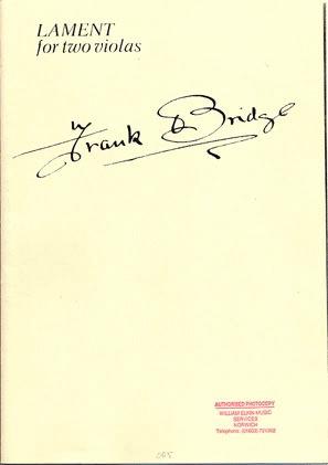 Bridge, Frank: Lament (2 violas)