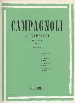 HAL LEONARD Campagnoli, Bartolomeo: 41 Caprices Op.22 for Viola