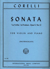 International Music Company Corelli, A. (Woehl): 12 Sonatas, Op.1, Volume I (two violins, and piano, with Cello ad libitum)