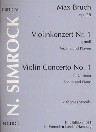 HAL LEONARD Bruch, M. (Wood): Concerto No. 1, Op.26 G minor (violin & piano)