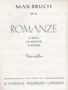 HAL LEONARD Bruch, M.: Romanze Op.42 A Minor (violin & piano)