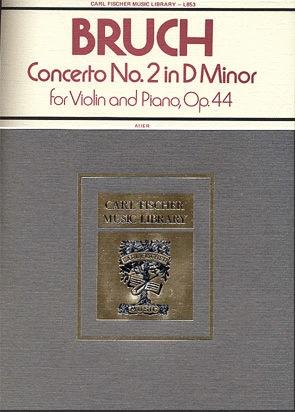Carl Fischer Bruch, Max (Auer): Concerto #2 Op.44 d mi (violin & piano)