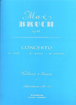 Carl Fischer Bruch, Max: Concerto #2 Op.44 d mi (violin & piano)