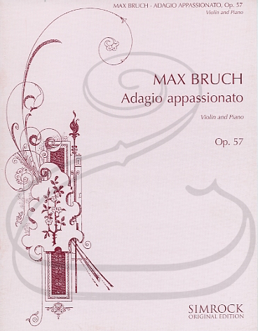 HAL LEONARD Bruch: Adagio Appassionato in F minor, Op.57 (violin & piano) Simrock
