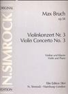 HAL LEONARD Bruch, M.: Concerto No. 3, Op.58 (violin & piano)