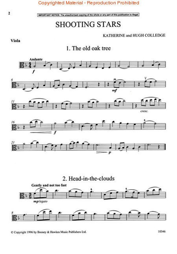 HAL LEONARD Colledge: Shooting Stars (viola)