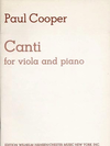 Cooper, Paul: Canti (viola & piano)