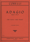 International Music Company Corelli, Arcangelo: Adagio Op.5 #5 (viola & piano)