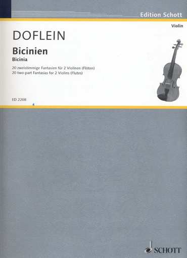 HAL LEONARD Doflein, E.: Bicinien - 20 two-part Fantasias from around 1600 (two violins)