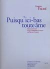 Faure, Gabriel (Garlej): Puisqu'ici-bas toute ame (2 violins & piano)