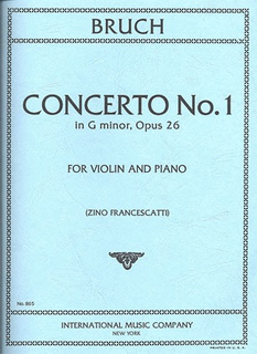 International Music Company Bruch (Francescatti): Concerto No.1 in G minor, Op.26 (violin & piano)  IMC