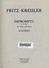 Carl Fischer Kreisler/Schubert: Impromptu Op.90 (violin & piano)