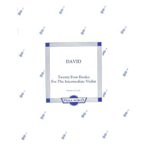 David: 24 Etudes for the Intermediate Violist (viola)