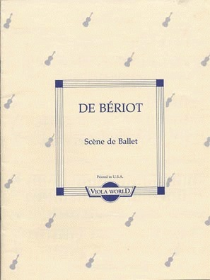 DeBeriot (Arnold): Scene de Ballet