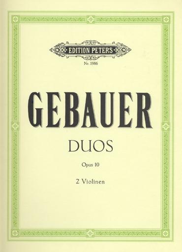 Gebauer: 12 Easy Duos for 2 Violins, Op. 10