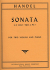 International Music Company Handel, G.F.: Sonata in C minor Op.2#1 (2 Violins & Piano)