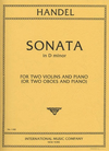 International Music Company Handel, G.F.Sonata in D Minor (2 Violins & Piano)