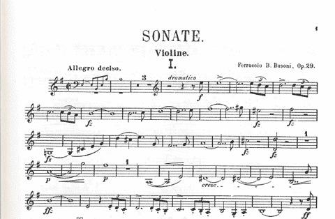LudwigMasters Busoni, Ferruccio: Sonata Op.29 (violin & piano)