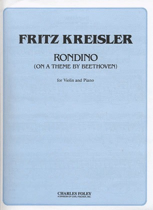 Carl Fischer Kreisler, Fritz: Rondino on a Theme by Beethoven (violin & piano)